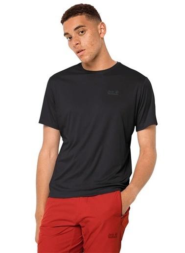 Jack Wolfskin Jack Wolfskin 1807071-6000 Tech T M T-Shirt Siyah